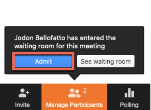 How to select the option of starting a breakout room in an advanced type of Zoom meeting