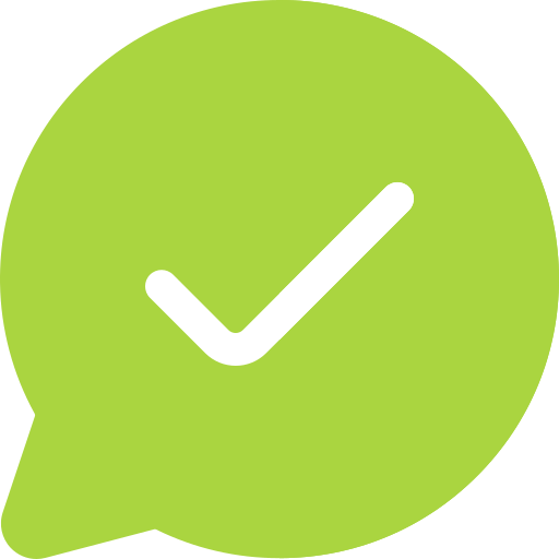 Speech bubble with checkbox