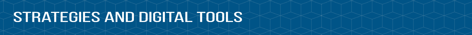 "Header image that reads ""Strategies and Digital Tools"""