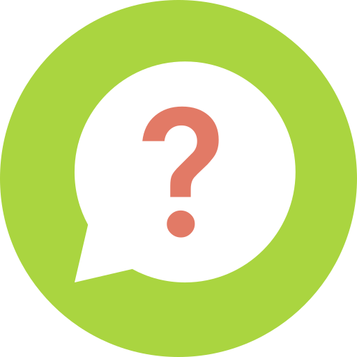 Speech bubble with question mark icon