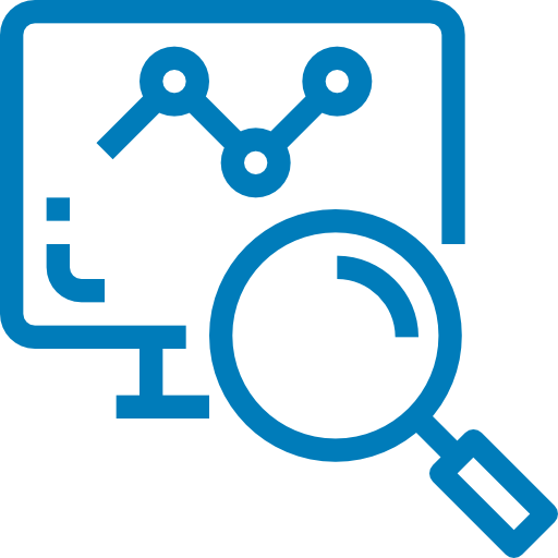 Monitor with a graph on screen and a magnifying glass. Click here to learn about Research Facilitation at UC Merced
