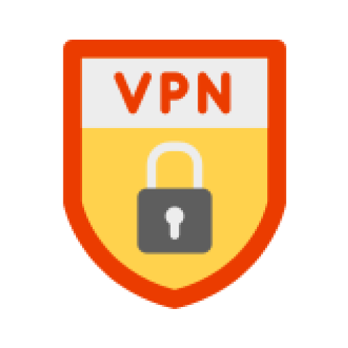 "Shield with a lock on the front labeled ""VPN"""