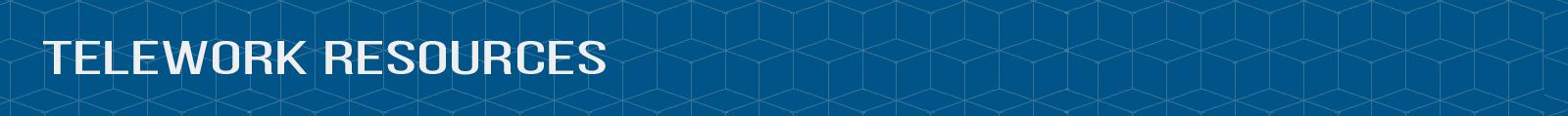 "Header image that reads ""Telework Resources"""