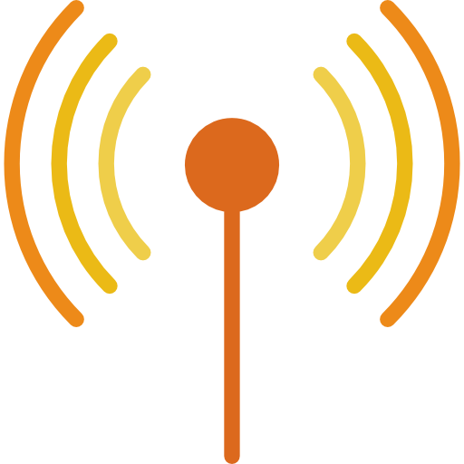 Antenna broadcasting icon