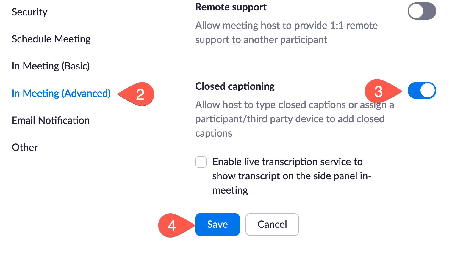 turn on the closed captuons toggle on the Zoom settings pagge under In Meeting (Advanced)