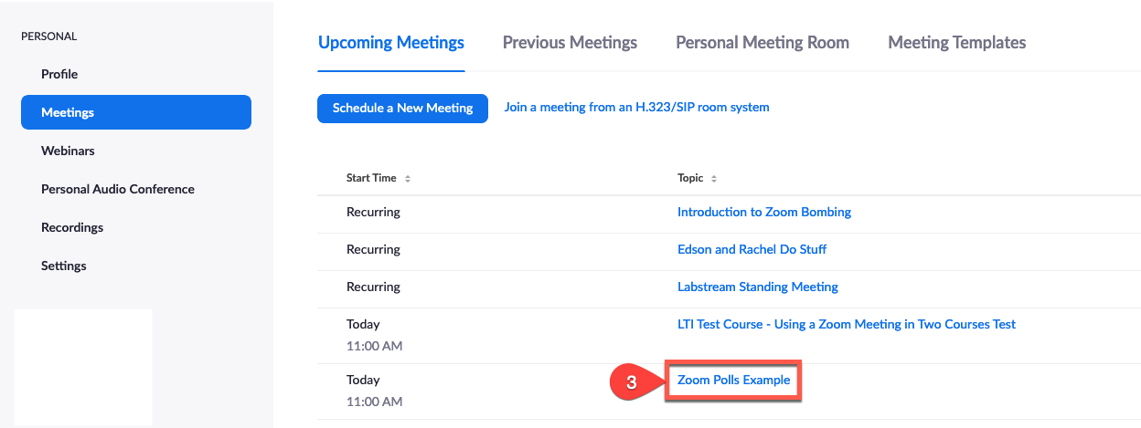 finding the meeting on the Zoom meetings webpage