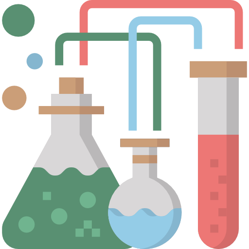 Test tube chemistry experiment icon