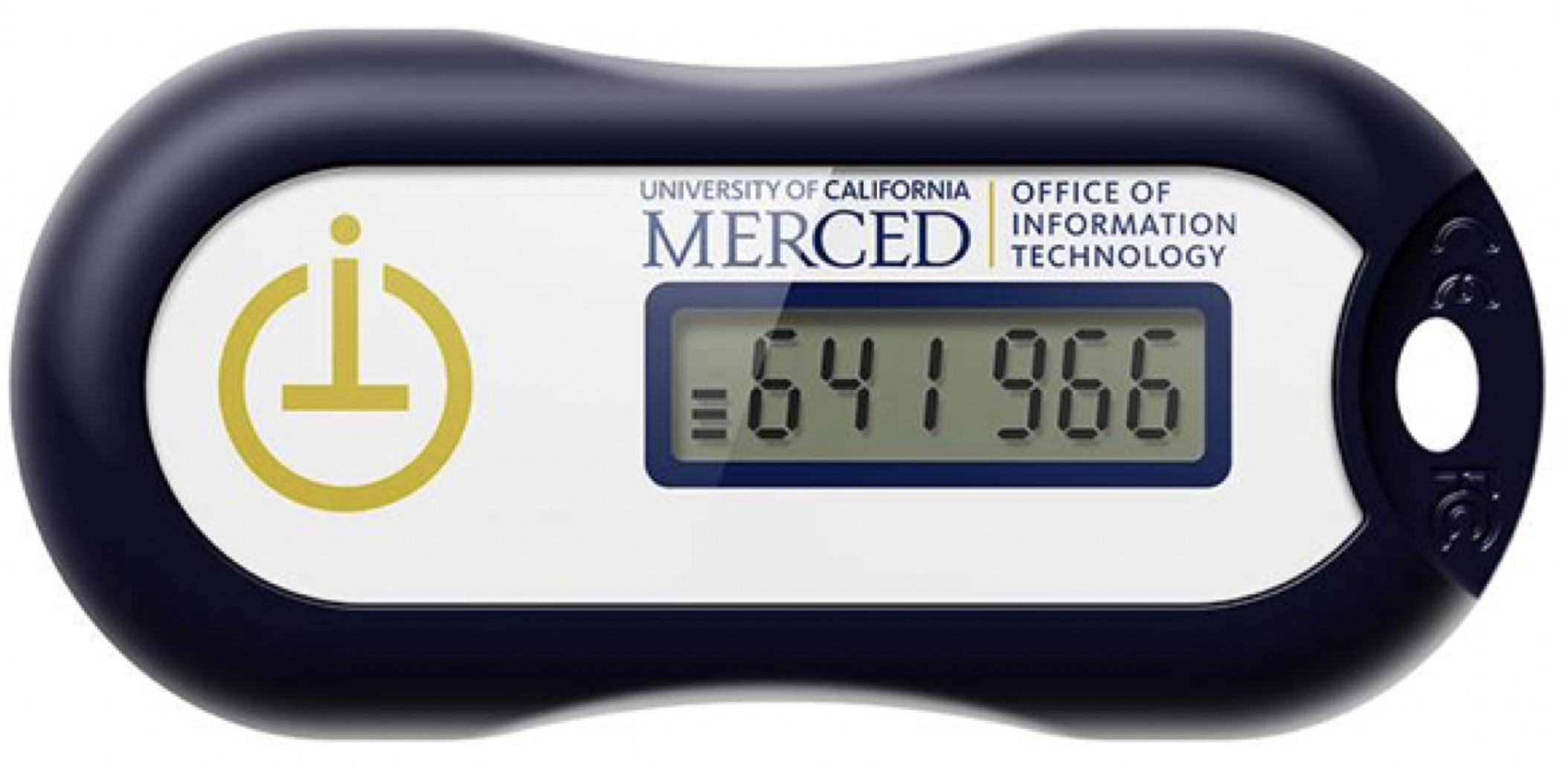 "2FA Token with OIT and UC Merced Logo. Numbers read ""641 966""."