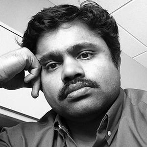 Raj Panneer Black and White Selfie